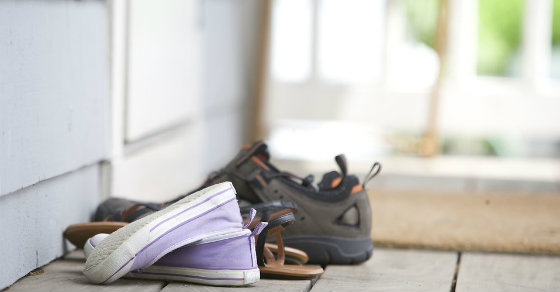 Shoes in asian home