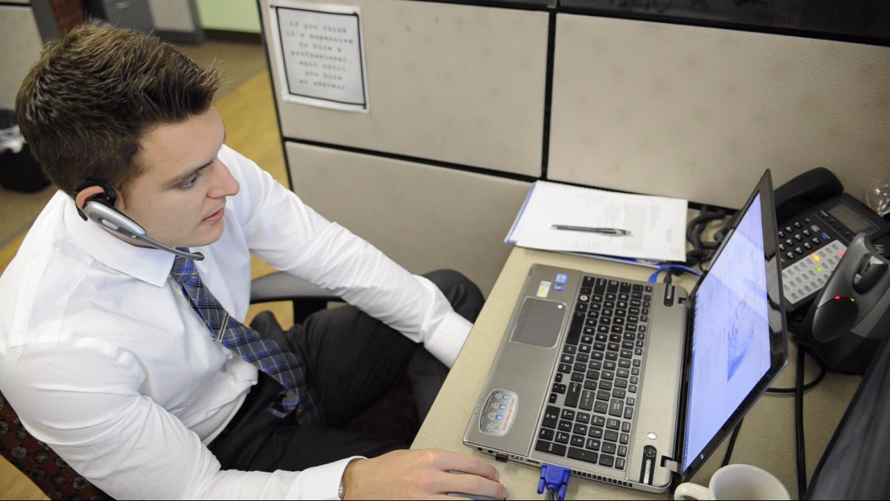 Greg at Desk
