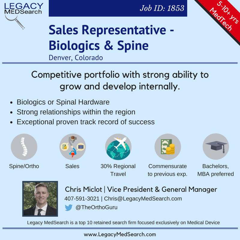 Sales Representative | Biologics & Spine