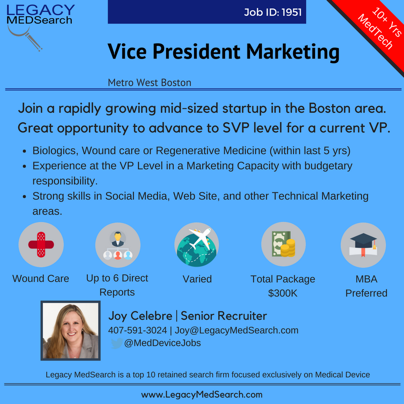 Sr. Vice President Marketing   Advanced Wound Care