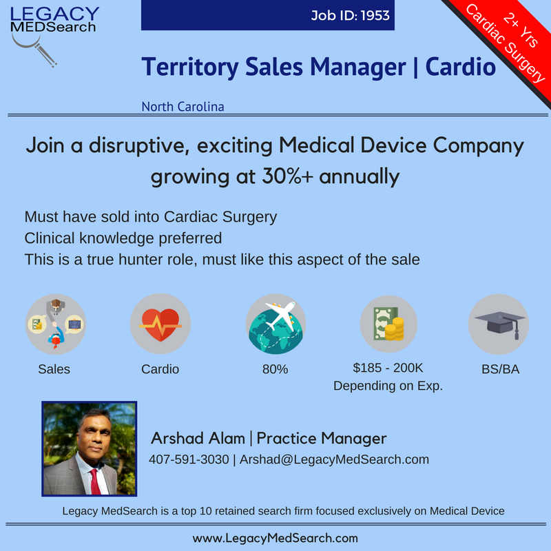Territory Sales Manager | Cardio