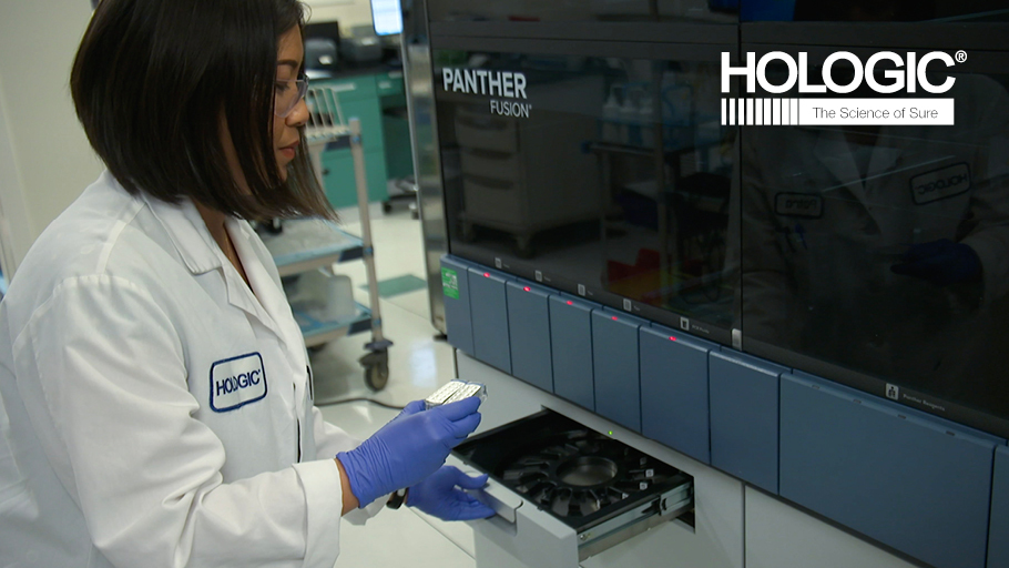 Hologic lab worker